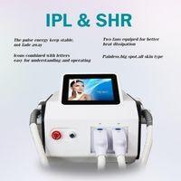 2021 Portable 2 Handles IPL SHR Laser Machine HR Epilator Hair Removal And SR Skin Rejuvenation System
