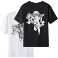 TOPS LOV mens clothing luxur t shirts Fashion trendy brand double-sided printing panlong letter loose tees men and women high street t-shirt_Discount #006