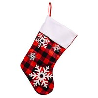 جوارب زينة عيد الميلاد - تماما منقوشة ريفي جورب ندفة الثلج تصميم عطلة حزب ديكور 9 × 18 بوصة