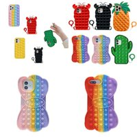 Pop Phone Cases Funny Party Favor For Iphone 12 11 Pro Max X XS XR 7 Plus 8 Relive Stress Fidget Sensory Toy Silicone Cover 2919 Q2