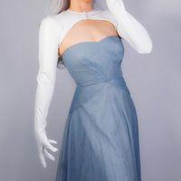 Five Fingers Gloves BOLERO Faux Leather White Top Clothes Crop Shrug Jumper Sun Block Anti UV Women PU