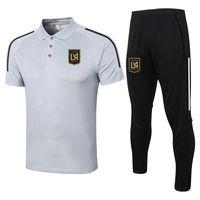 2021 Los Ángeles FC Funda de manga corta conjuntos de polo de entrenamiento de fútbol traje deportes jerseys de fútbol adulto fútbol polos y pantalones kits chándales para hombres