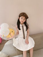 New Kids Girls Dress 2021 Baby Girl Cotton Dresses Children Cute Girls sleeveless Zipper white clothing