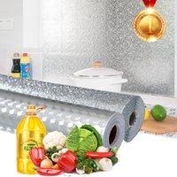 Petróleo à prova d 'água adesivos alumínio folha cozinha fogão auto adesivo adesivo de parede diy wallpaper