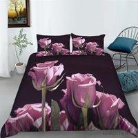 Bedding Sets Rose 3D Printed Comforter Set Adult Duvet Cover Bedroom Luxury Queen Full Single King Size Home Decor