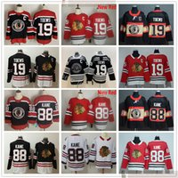 2021 Reverse Retro Chicago Blackhawks Hockey 19 Jonathan Toews 88 Patrick Kane Jerseys Alex Debrincat Patrick Sharp Keith Crawford 유니폼