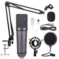 Microphones U87 Condenseur Microphone Enregistrement de l'enregistrement d'Anchor Set K Chant KTV jeu Live Broadcast Karaoké PC DJ Audio pour carte son