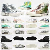 Dior B23 Oblique High Top Sneakers Designer Casual Shoes Mens Sneakers B23 women men brands fashion Oblique Womens Low Top B24 Technical Canvas Leather bee Classic Luxurys Trainers