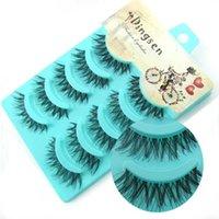 False Eyelashes 5 Pairs Mink Waterproof Lasting Eyeliner Extension Makeup Drop Magnet K3x2