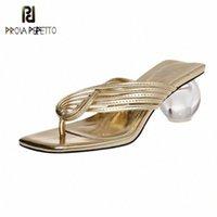 Prova Perfetto Solide Flip Flops Frauen Sandalen 2020 Kugel Fersenpumpen Sommer Strand Hausschuhe Basic Kreuzgürtel Sandalen Schuhe Frau C4JZ #