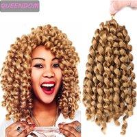 Jumpy Değnek Curl Tığ Örgüler Saç 20 Strands Jamaika Sıçrama Tığ Saç 10 Ombre Sentetik Örgü Saç Afrika Kadınlar için
