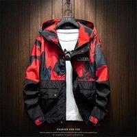 Men's Jackets Mens Autumn Men Casual Windbreaker Camouflage Hooded Coats Bomber Vogue Hip Hop Cargo Clothing 4XL