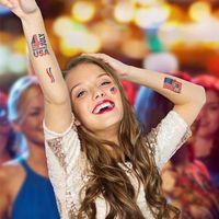 Amerikanische Unabhängigkeitstag-Flagge Tätowierer Aufkleber Temporäre Gesicht Arm Körper Makeup Aufkleber 4. Juli Patriotische Tattoo Aufkleber OA4024