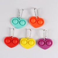 Moda Mini Fidget Brinquedos Keychian Push Bubble Fingertip Sensory Anti Stress Brinquedo Presentes de Natal