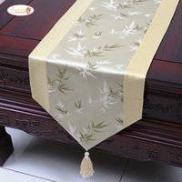 Proud Rose Satin Runner Cloth Simple China Wind Tea Table Runners Bed Flag Home Decoration