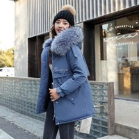Women's Down & Parkas Fashion Long Women Winter Jacket And Coat 2021 Faux Fur Collar Hooded Thick Warm Female Clothing