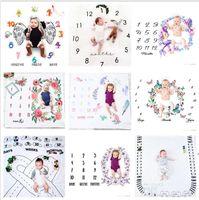 29 Türleri Yenidoğan Bebek Kilometre Battaniyeleri Fotoğraf Arka Plan Sahne Bebek Fotoğraf Arka Planında Bebek Mektubu Çiçek Battaniye DWC6292