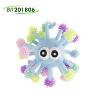 5-calowy Vent Fidget Zabawki wypukłe Eye Luminous Hedgehog Multi-Head Octops Glowings Hed Sea Urchin LED świecące Ball Zabawki 100 sztuk DHL