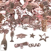 15g / Bolsas Oro Rosa Felicitaciones Felicitaciones Cap Confeti DIY Graduación Decoraciones Graduados Party Supplies Props Fotos de los accesorios 60 g