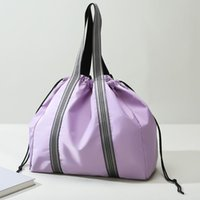Duffel Bags Fashion Women Shoulder Bag Large Capacity Waterproof Fitness Travel Hit Color Oxford Handbags Luggage Supplies