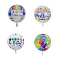 Globos de 22 pulgadas flotando en el aire Feliz Cumpleaños Decoración de la fiesta transparente 4D Una variedad de estilos 5 / Paquete