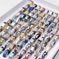 100 قطعة / الوحدة الأزياء متعدد الألوان المقاوم للصدأ الحب خواتم للنساء الرجال نمط مختلف حزب الهدايا مجوهرات بالجملة