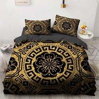 3d design nero design personalizzato custodia piumino piumone trapunta copertura letto set cuscino cuscino shams re regina doppia singola dimensione tessile casa T200826