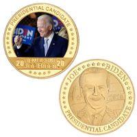 Newbiden Gold moneta commemorativa 2021 Presidente Biden Commemorative Coin Metal Badge Presidente americano Joe Biden Souvenir Coin EWE7612