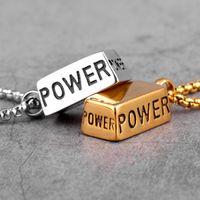 Power Bullion Nurgget Длинные Мужчины Ожерелья Ожерелья Подвески Цепь Панк для Панки для парня Мужской Нержавеющая Сталь Ювелирные Изделия Подарок