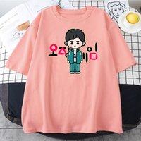 Gaming Squid Game T Shirt Vintage Fashion Plus Size Crewneck TShirt Top Sell Harajuku Men's and Women Clothes