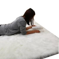 Simanfei 털이 카펫 새로운 양가죽 일반 모피 피부 솜털 침실 가짜 매트 빨 수있는 인공 섬유 영역 스퀘어 러그 708 K2