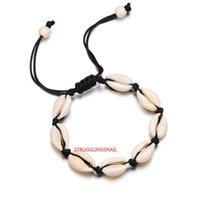 Charm Bracelets Handmade Sea Shell For Women Bohemian Beach Cowrie Seashell Puka String Rope Chains 2021 Fashion Boho Jewelry
