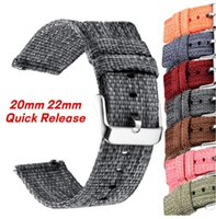 Watch Bands Quick Release Thick Nylon Strap 20mm 22mm For Samsung Galaxy 4 42 46 Active Gear S3 Sport S2 Band