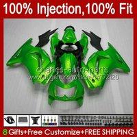 Injeção para Kawasaki Glossy Green Ninja ZX250R EX250R ZX-250 ZX 250R 13HC.75 ZX250 2008 2009 2011 2012 2012 EX250 08 09 10 11 12 Feeding