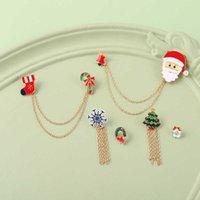 مجوهرات جديد الكرتون سبيكة بروش رائعة جميل ندفة الثلج سانتا سلسلة دبوس بدلة الملحقات