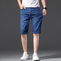 Talla grande 42 Clásico clásico para hombres Fit Five Five Pocket Jean Short 2021 New Summer Thin Business Fashion Style Classic Denim Shorts