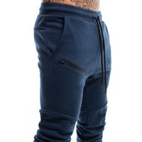 Men's Pants Sweatpants Casual Gym Running Training Sportswear Outdoor Zipper Multi-pocket Jogging Squat Overalls