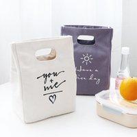 Cosméticos sacos Capas Simplicidade Canvas Saco de Almoço Caixa de Estudante Caixa Protetora Impermeável Bolsas Térmicas Escritório Traga Refeição Cooler Pack