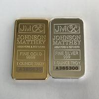 10 шт. Немагнитная американская монета JM Johnson Matthey 1 унция Pure 24K Real Gold Secremerated Bullion Bar с разным серийным номером SFG