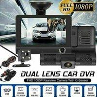 Mini Cameras 3 Lens Car Front Inside Rear Dual Dash Camera Portable DVR Quality 24H High Monitor With Parking Dashcam O6K3