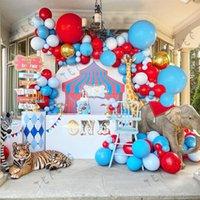 155 adet Çocuklar Mutlu Doğum Günü Partisi Dekorasyon Balon Garland Kırmızı Yuvarlak Altın Folyo Helyum Topları Bebek Duş Erkek Düğün Malzemeleri