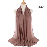 عالية الجودة والأوشحة أحادية اللون الشيفون فقاعة وشاح غطاء الرأس المرأة غطاء الرأس شال وشاح