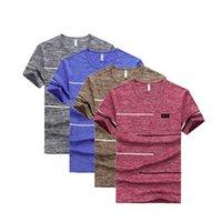 Men's T-Shirts Big Size 9XL Summer Fashion Men Short Sleeve T Shirt Brand Mens Trend Casual T-shirt 4pcs lot Quick Dry Top Tees Plus