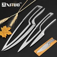 Xituo 4pcs Multi Cuisine Couteaux en acier inoxydable Couteau en cascade Ensembles de couteaux de Chef Peeler Dossing Cleaver Couteaux utilitaires