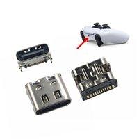 Chargeur d'origine Pièces de réparation Pièces de réparation Type-C Bouchon de port de charge pour PlayStation 5 PS5 Contrôleur d'alimentation Interface jack