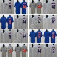 Nuevo 2020 Cubs Seasons Hombres Mujeres Niños Béisbol 9 Javier Baez Jersey cosido 44 Anthony Rizzo 17 Kris Bryant Baseball Jerseys
