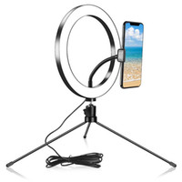 26cm Photography Ring Light Phone Desktop Live Flood Lamp Se...
