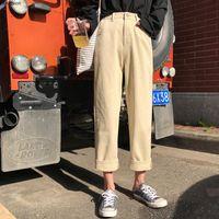 Women's Jeans Spring autumn Fashion Casual Elastic Denim Buttons High Waist Cotton Pocket Ankle-Length Pants Houthion