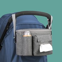 Stroller Parts & Accessories Large Capacity Baby Organizer Bag Gray Black Cup Bottle Holder Diaper Universal Outdoor Travel Hanging Pram Car