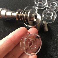 Remplacement OD 22 25mm Disque de quartz E 100% Titane Bobine à ongles Bols pour mini-verre Bongs Bongs Huile